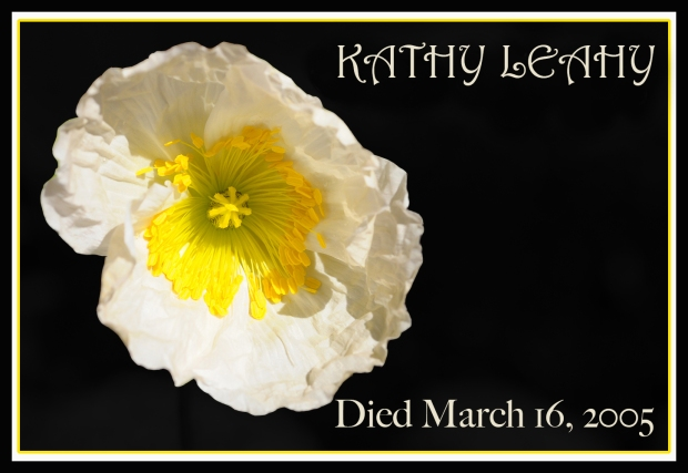 REMEMBERING POPPY KATHY LEAHY